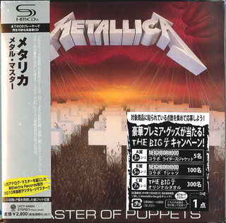 Metallica - Master Of Puppets Japan SHM-CD Mini LP UICY-94664
