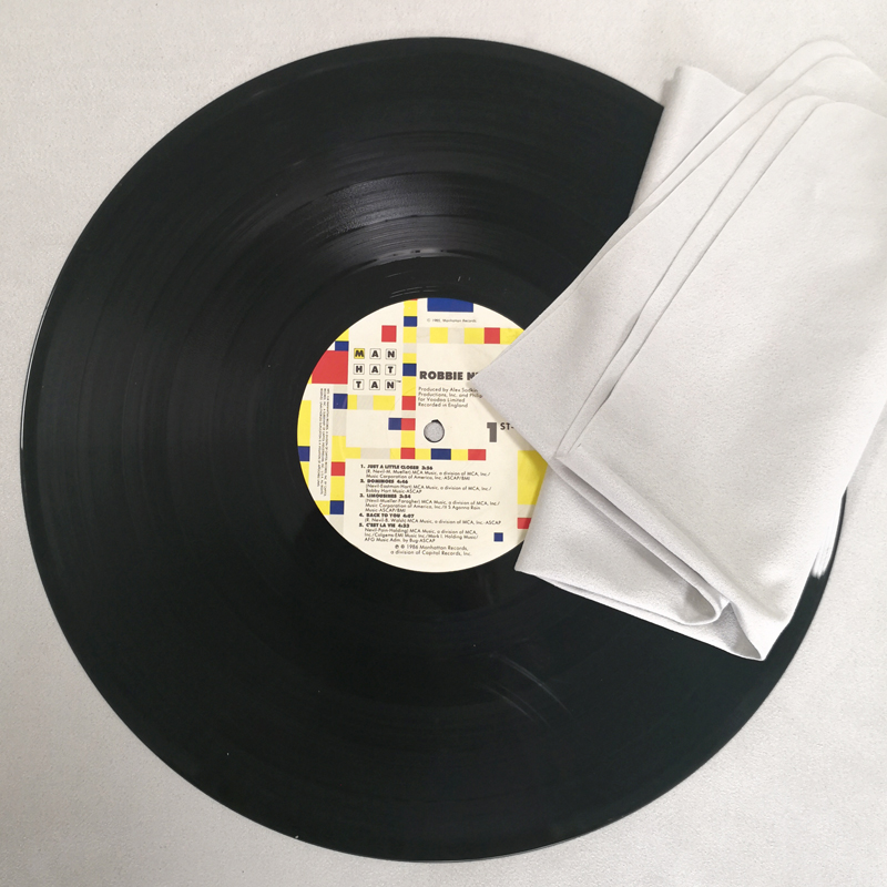 2PCS Large Cleaning Cloth Absorbent Soft Cloth for LP Vinyl Record