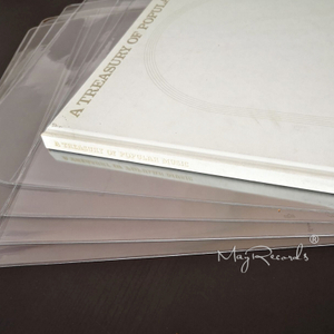 5PCS Extra Wide Thicken PVC Resealable Outer Sleeves for 12 Inch Gatefold 3LP 4LP Booklet Cover