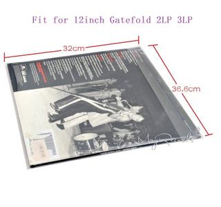 25 Resealable 4.7 Mil Plastic Vinyl Record Outer Sleeves for GATEFOLD 2LP 3LP