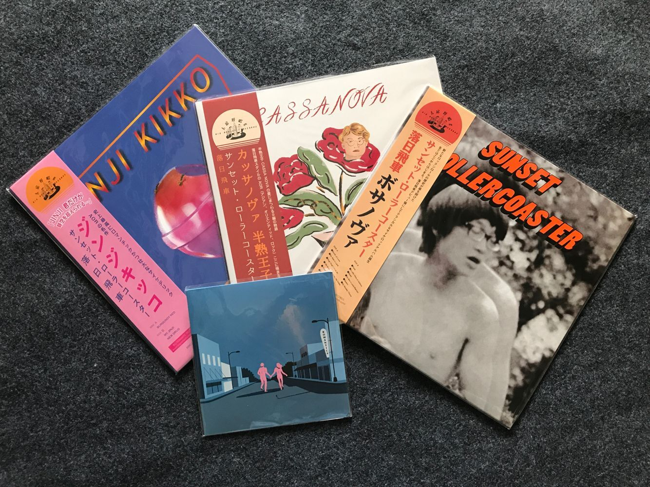 落日飛車Sunset Rollercoaster Jinji Kikko Bossa Nova Cassa Nova Travel Agency / Cry For The Moon LP New